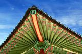 Seoul, South Korea. Geunjeongjeon, main palace pavilion, Gyeongbokgung Palace, Palace of Shining Ha Photographic Print by Miva Stock