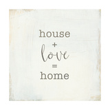 Home Sweet Home IV Script Affiches par  Wild Apple Portfolio