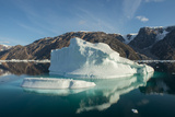 Eastern Greenland, Scoresbysund, aka Scoresby Sund. Scenic ice filled Oer Fjord. Photographic Print by Cindy Miller Hopkins