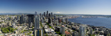 USA, Washington State, Seattle from the Space Needle on a clear day. Reproduction photographique par Brent Bergherm