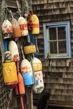 Buoys and netting and old window, Rockport, Massachusetts Fotografisk trykk av Adam Jones