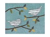 Aqua Songbirds II Poster von Jeni Lee