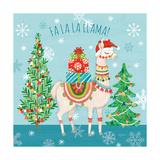 Lovely Llamas Christmas IX Lámina giclée prémium por Mary Urban