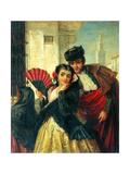 Scene In Spain, Near Seville, c.1853 Reproduction procédé giclée par John-bagnold Burgess