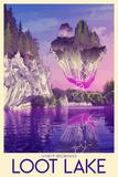 Visit Scenic Loot Lake Kunstdruck