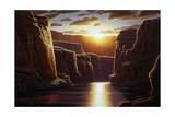 Grand Sunrise Giclee Print by R.W. Hedge