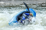 Kayak on Whitewater. Focus on Back of Kayak and Water Photographic Print by  soupstock