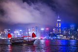 Hong Kong, China at Victoria Harbor. Photographic Print by  SeanPavonePhoto