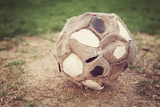 Very Old Well Used Soccer Ball Photographic Print by  soupstock