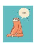 Cute Hand Drawn Sloths, Funny Vector Illustrations, Poster and Greeting Card Pósters por  Marish