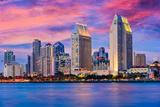 San Diego, California, USA Downtown Skyline. Photographic Print by  SeanPavonePhoto