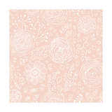 Stylish Floral Seamless Pattern in Pink. Lovely Ranunculus Flowers. Seamless Pattern Can Be Used Fo Poster by  smilewithjul