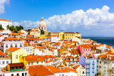 Lisbon, Portugal Town Skyline at the Alfama. Photographic Print by  SeanPavonePhoto