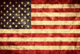 USA Grunge Flag. Vintage, Retro Style. High Resolution, Hd Quality. Item from My Grunge Flags Colle Reproduction photographique par Michal Bednarek
