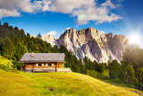Great View on the Pizes De Cir Ridge, Valley Gardena. National Park Dolomites, South Tyrol. Locatio Photographic Print by Leonid Tit