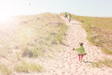 Children Walking up a Dune Path to the Beach Photographic Print by  soupstock