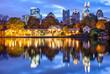Atlanta, Georgia, USA Downtown City Skyline at Piedmont Park's Lake Meer. Photographic Print by  SeanPavonePhoto