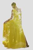 Double Exposure of Woman in Fashion Dress with Nature Tree Branches Background Valokuvavedos tekijänä  shock