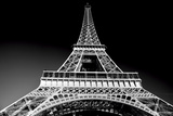 Eiffel Tower in Artistic Tone, Black and White. Paris, France. European Landmarks Reproduction photographique par Michal Bednarek