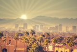 Morning Sunrise over Phoenix, Arizona, USA Fotografisk trykk av  BCFC