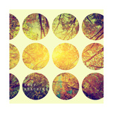 Inspirational Circle Design - Autumn Trees: Don't Forget to Look Up Every Now and Again Kunstdruck von Michal Bednarek