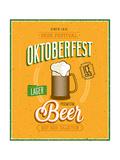 Vintage Beer Brewery Poster Premium Giclée-tryk af  avean