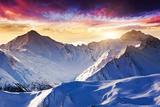 Fantastic Evening Winter Landscape Photographic Print by Leonid Tit