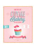 Vintage Cupcake Poster Kunstdruck von  avean