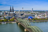 Cologne, Germany Aerial View over the Rhine River. Photographic Print by  SeanPavonePhoto