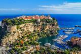 The Rock The City Of Principaute Of Monaco And Monte Carlo In The South Of France Veggmaleri av  OSTILL