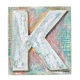 Wooden Alphabet Block, Letter K Metalltrykk av  donatas1205