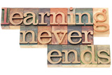 Learning Never Ends Kunst von  PixelsAway