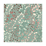 Stylish Floral Pattern Poster by  smilewithjul