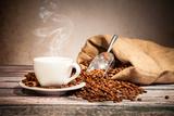 Coffee Still Life With Wooden Grinder Posters tekijänä  Jag_cz