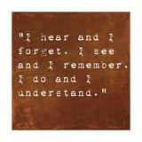 Inspirational Quote By Confucius On Earthy Background Metalltrykk av  nagib