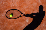 Shadow Of A Tennis Player In Action On A Tennis Court (Conceptual Image With A Tennis Ball Arte di  l i g h t p o e t