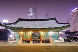 Bongeunsa Temple Grounds in the Gangnam District of Seoul, South Korea. Photographic Print by  SeanPavonePhoto