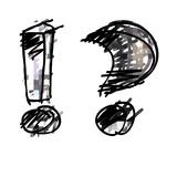 Art Sketching Set Of Alphabet On White Background 3D Metalltrykk av Irina QQQ
