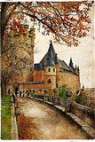 Alcazar Castle - Medieval Spain Painted Style Series Poster von  Maugli-l