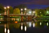 Lagoon Bridge at the Boston Public Gardens in Boston, Massachusetts. Photographic Print by  SeanPavonePhoto