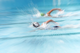 Freestyle Race (Motion and Lens Blur) Photographic Print by  soupstock