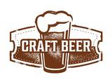 Vintage Style Craft Beer Sign Premium Giclée-tryk af  daveh900