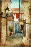 Old Greek Streets -Artistic Picture Poster by  Maugli-l