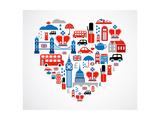 London Heart Poster av  Marish