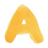 Handwritten Watercolor Alphabet Letter, Isolated Metalltrykk av  donatas1205