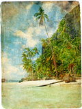 Tropical Beach -Retro Styled Picture Posters by  Maugli-l