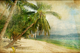 Tropical Beach -Retro Styled Picture Photographic Print by  Maugli-l