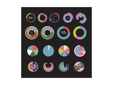 Circle Chart Templates Collection Poster von  tovovan