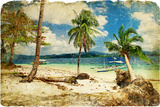 Tropical Beach -Retro Styled Picture Art by  Maugli-l