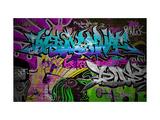Graffiti Wall Urban Art Premium Giclee-trykk av  SergWSQ
